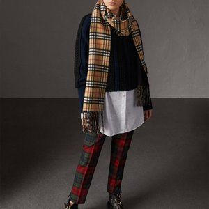 Burberry Cashmere Long Reversible Scarf